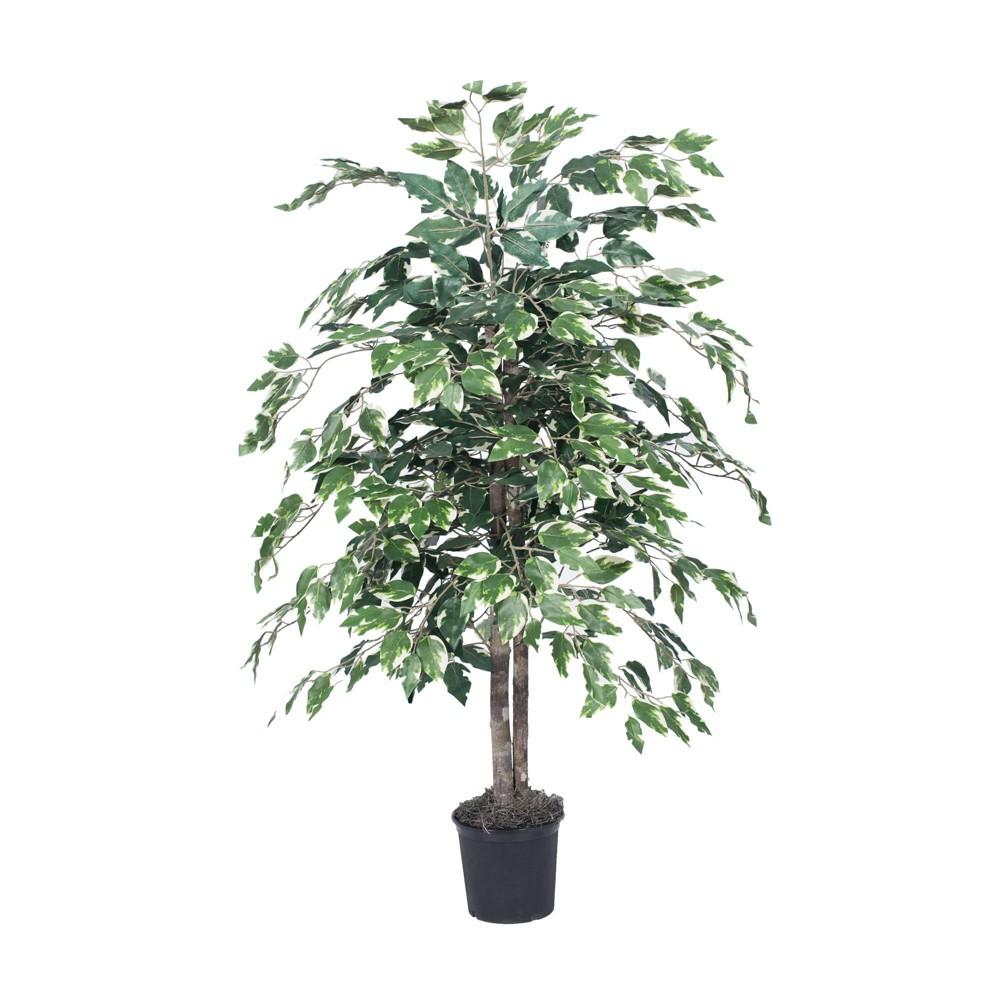 4 39 Artificial Variegated Ficus Bush Vickerman