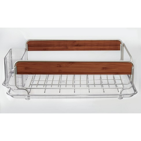 Interdesign Over The Sink Dish Drainer Silver Target