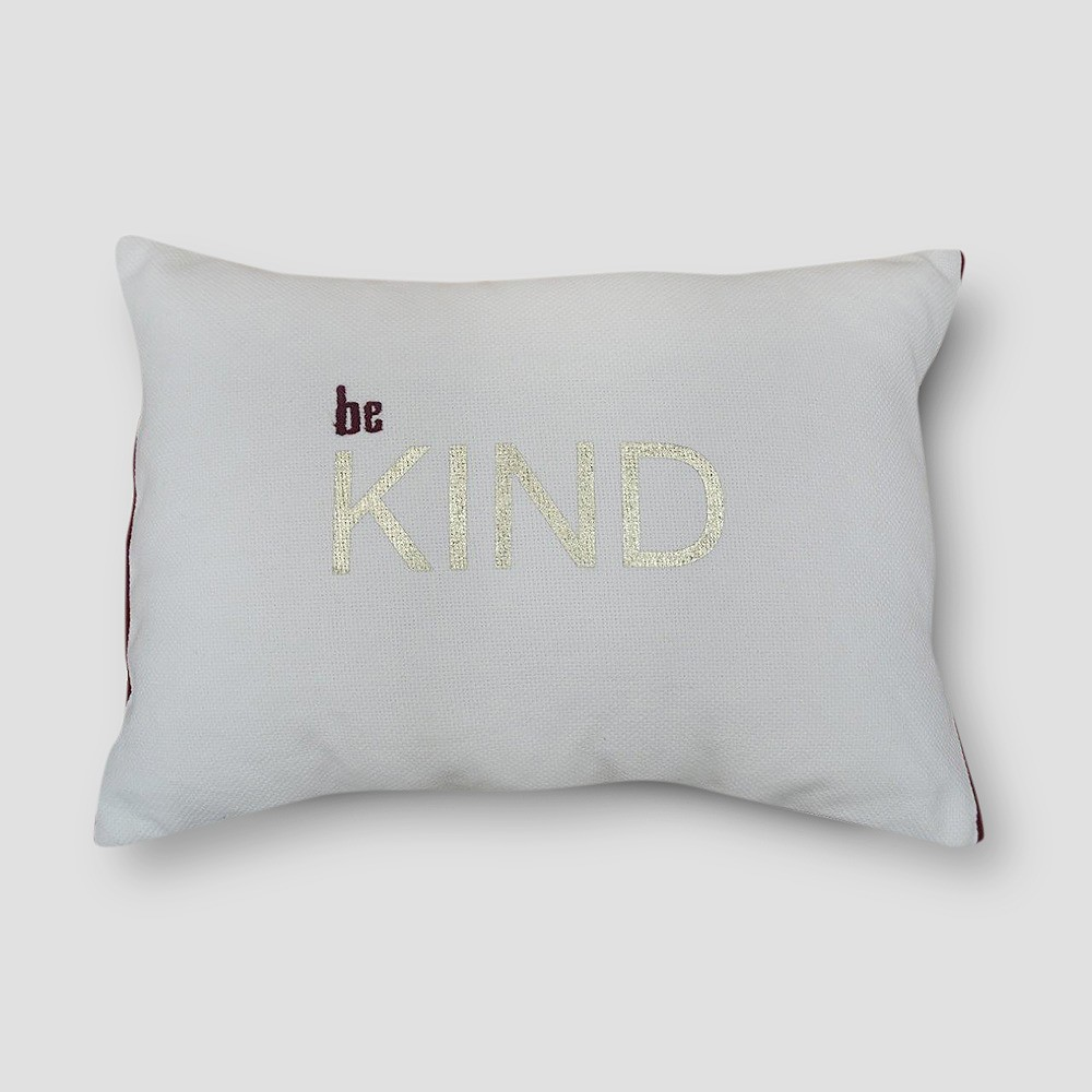'Be Kind' Lumbar Pillow - Project 62, Berry Cobbler