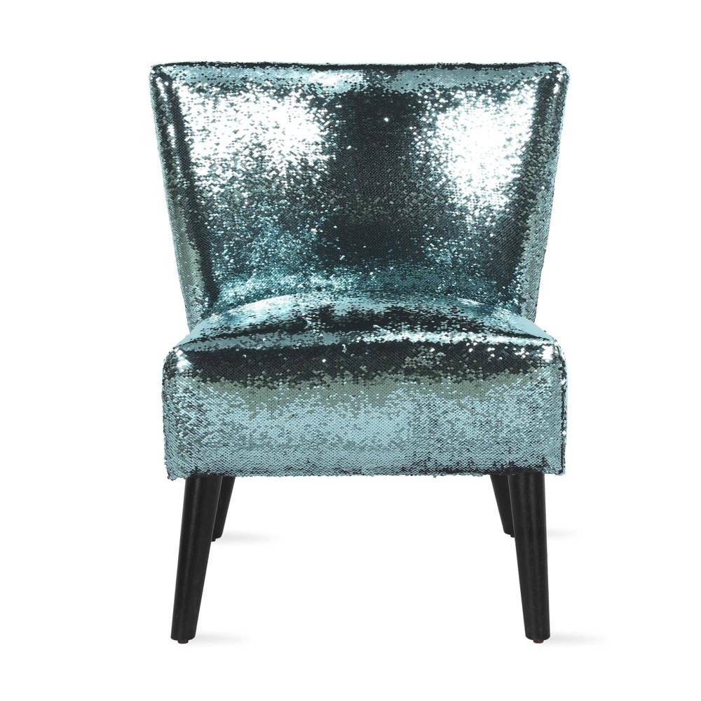 Image of Mazzy Sequin Accent Chair Teal - Novogratz, Blue