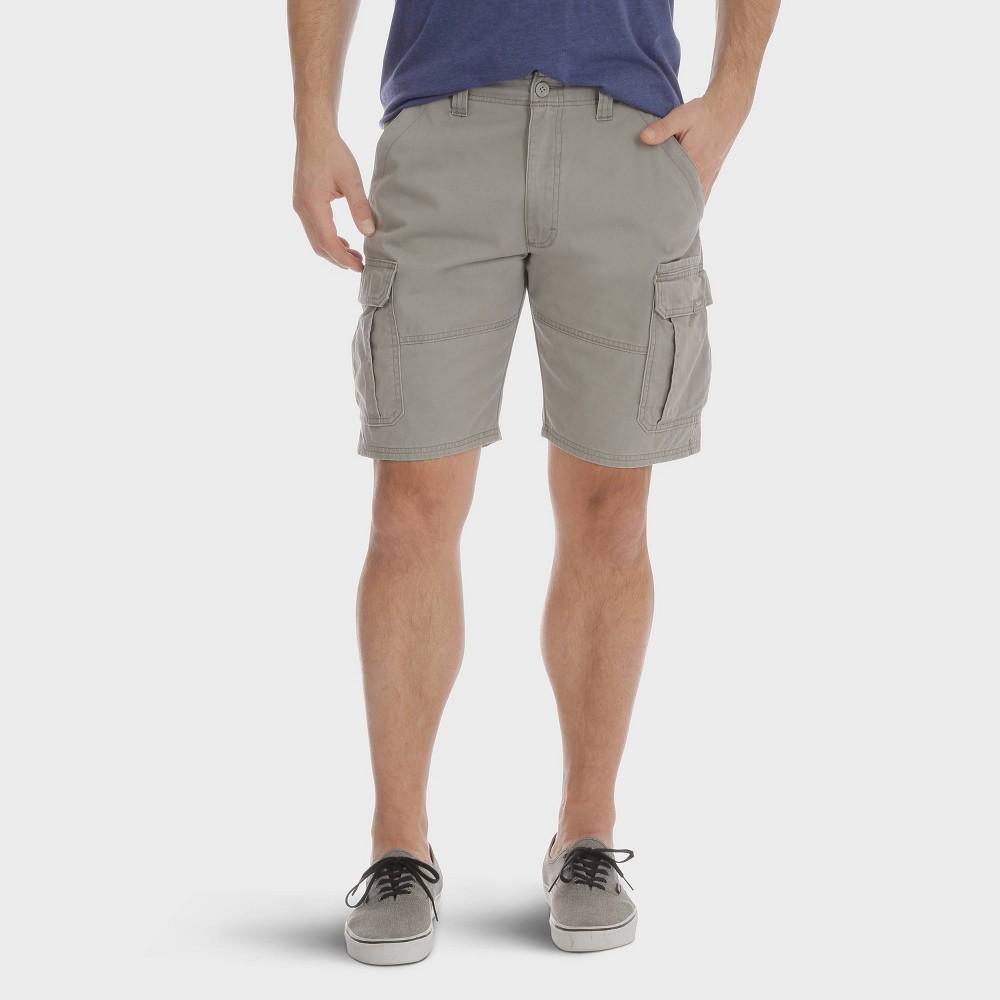 c69335674e Wrangler Mens Big Tall 10 Cargo Twill Shorts Vintage Gray 44