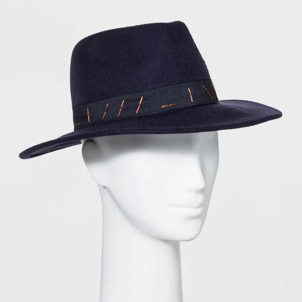Women's Panama Hat - Universal Thread Navy (Blue)