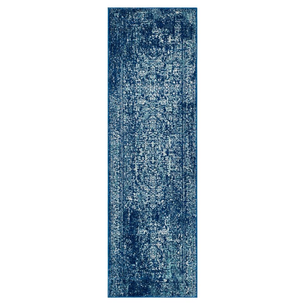 Evoke Rug - Navy/Ivory (Blue/Ivory) - (2'2x11') - Safavieh