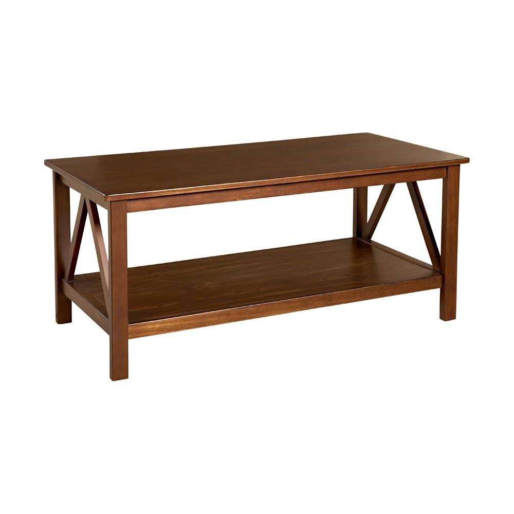 Coffee Table Tobacco (Black) - Linon Home Decor