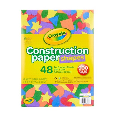 Crayola 48pg Construction Paper with Pop Out Shapes