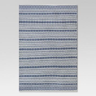 5' x 7' Pattern Stripe Outdoor Rug Blue - Threshold™