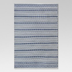 Pattern Stripe Outdoor Rug Blue - Threshold™