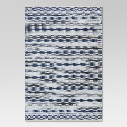 Pattern Stripe Outdoor Rug Blue Threshold Target
