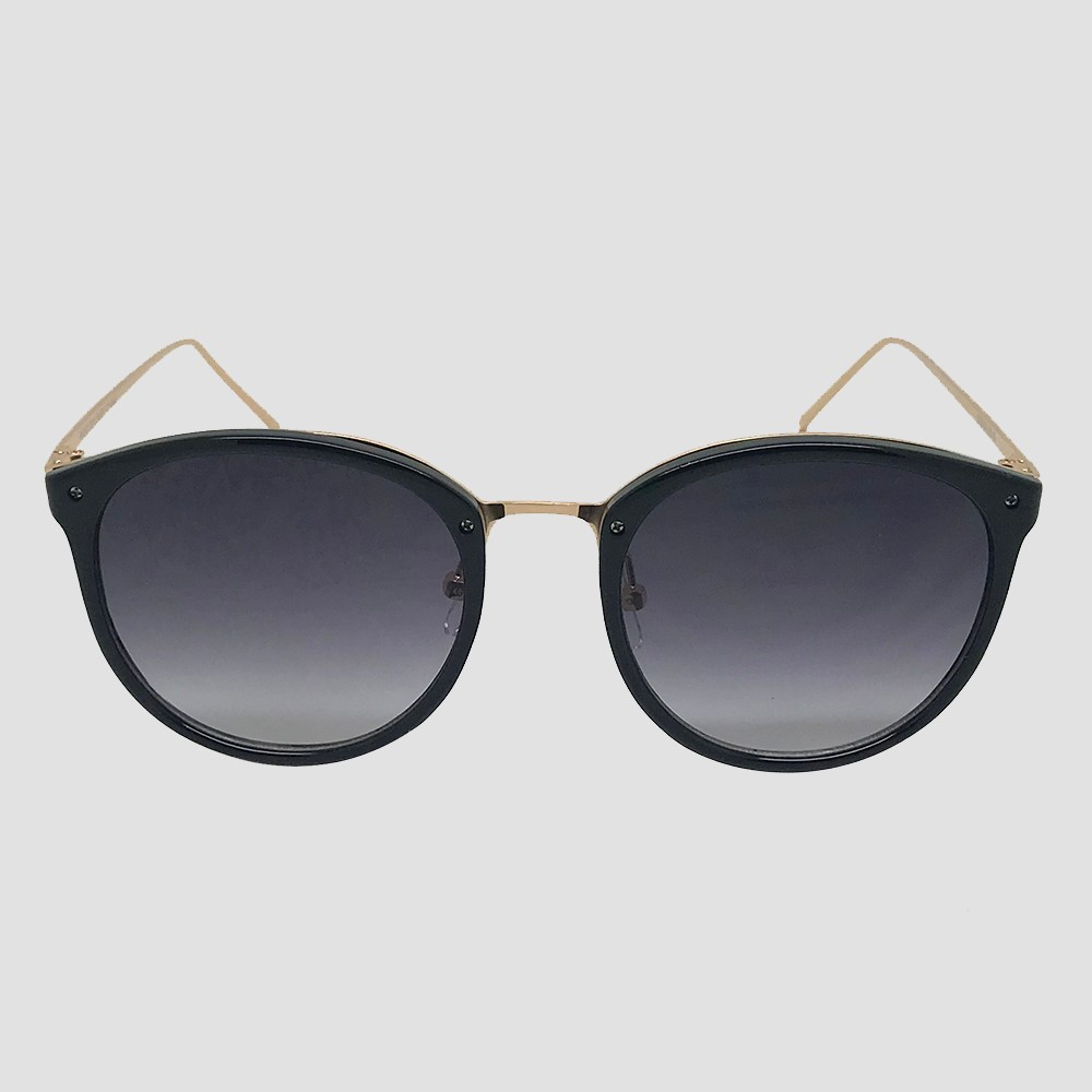 Women's Round Sunglasses - A New Day Black