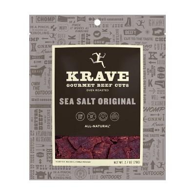 Krave Sea Salt Original Beef Jerky – 2.7oz