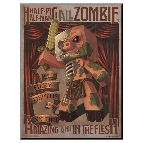 Minecraft - Zombie Pigman, Mounted Print - image 1 of 2