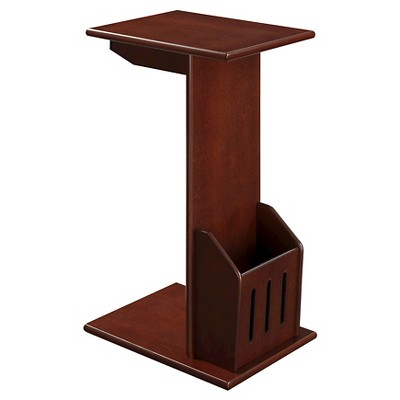 Abby Magazine C End Table, Mahogany - Mahogany - Convenience Concepts