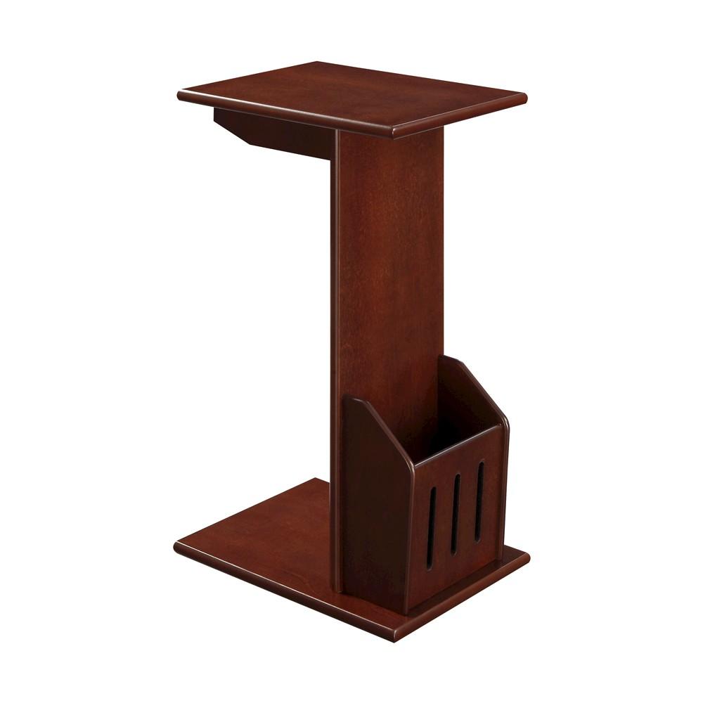 Image of Abby Magazine C End Table, Mahogany - Mahogany - Convenience Concepts, Brown