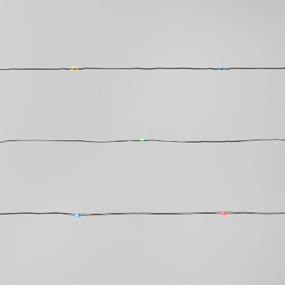 30ct LED String Lights Multicolored & Warm White with Green Wire - Wondershop™