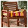 Carnival Stripe Outdoor Seat Cushion - Kensington Garden - image 2 of 4