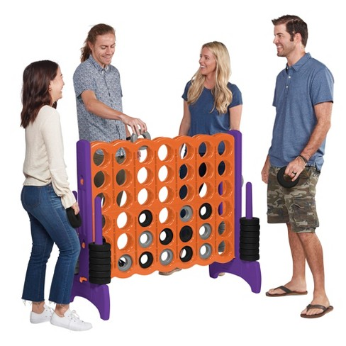 ECR4Kids Jumbo Four-To-Score Giant Game-Indoor/Outdoor 4-In-A-Row Connect - Orange and Purple - image 1 of 4
