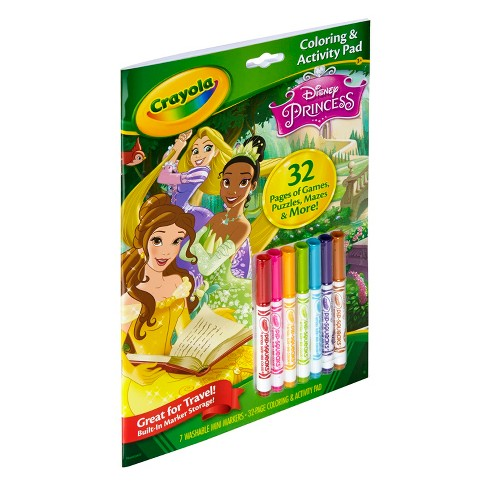 Crayola® Coloring and Activity Pad, 32pgs, 7 Mini Markers - Disney ...
