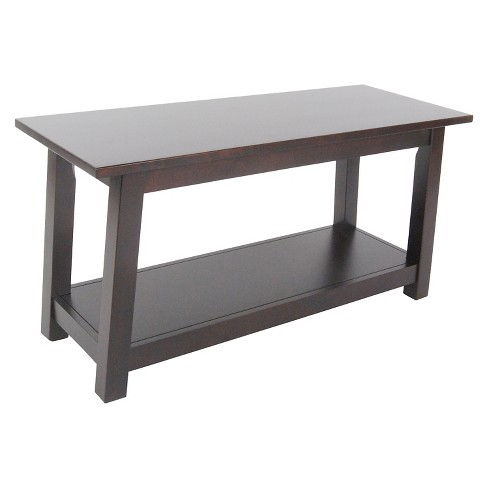 "36"" Bench with Shelf Hardwood Espresso - Alaterre Furniture® - image 1 of 1"