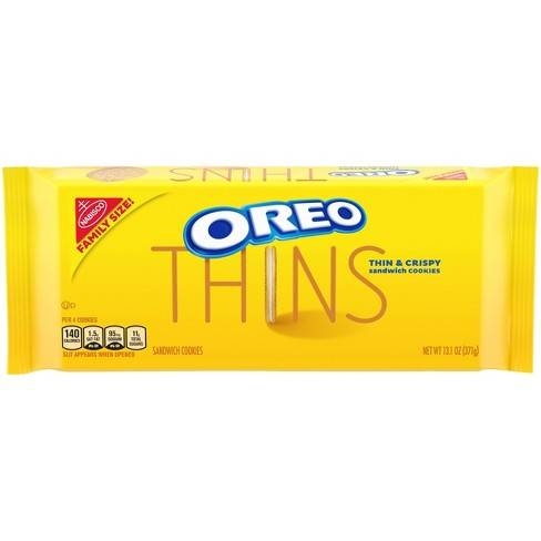 Oreo Thins Golden Sandwich Cookies Family Size - 13.1oz - image 1 of 4
