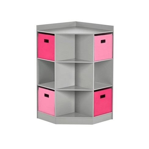5pc Kids' Corner Cabinet Set with 4 Bins Set - RiverRidge Home - image 1 of 3