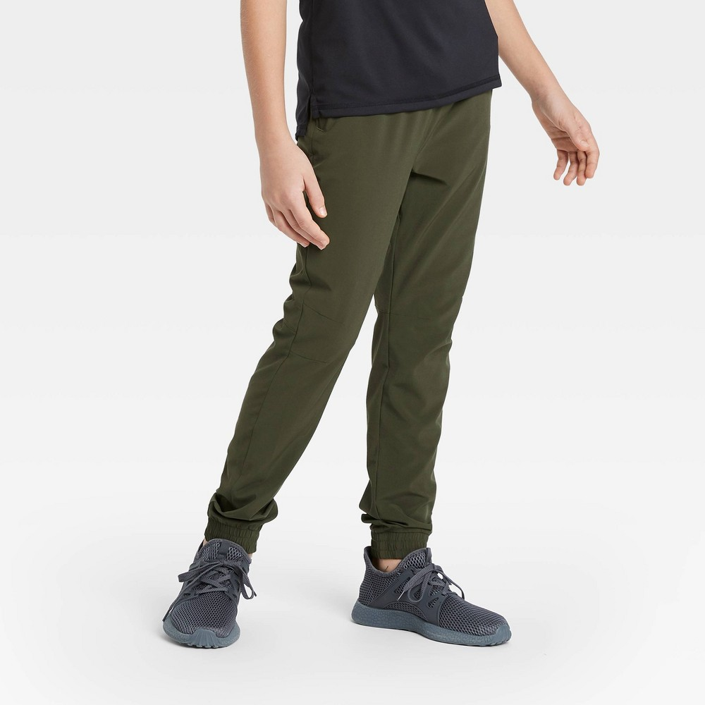Boys 39 Stretch Woven Jogger Pants All In Motion 8482 Olive Green Xxl