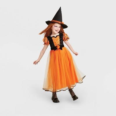 Kids' Orange Fancy Witch Halloween Costume - Hyde & EEK! Boutique™