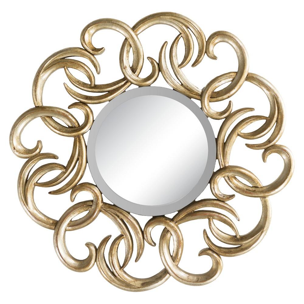 Round Baynton Decorative Wall Mirror Gold - Surya