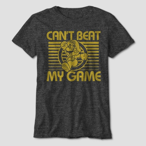 c744896e04956 Boys  Super Mario Can t Beat My Game Short Sleeve Graphic T-Shirt -  Charcoal Heather