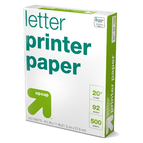 500ct Letter Printer Paper White - Up&Up™ - image 1 of 2