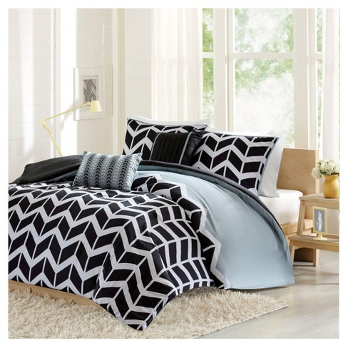Chevron Print Darcy Multiple Piece Duvet Cover Set - image 1 of 8