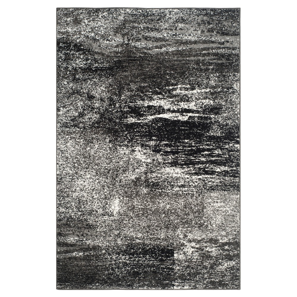 Nykko Area Rug - Silver/Black (5'1