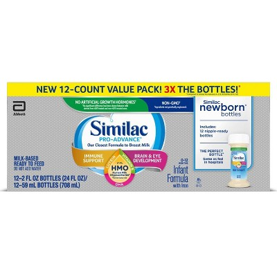 Similac Pro-Advance Non-GMO Infant Formula with Iron - 12ct/2 fl oz Each