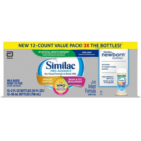 Similac Pro-Advance Non-GMO Infant Formula with Iron - 24 fl oz Total - image 1 of 4