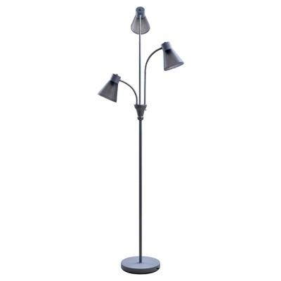 Multi-Head Floor Lamp Gray Includes Energy Efficient Light Bulb - Room Essentials™