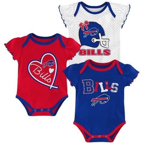 10c63e3720db NFL Buffalo Bills Baby Girls' Newest Fan 3pk Bodysuit Set