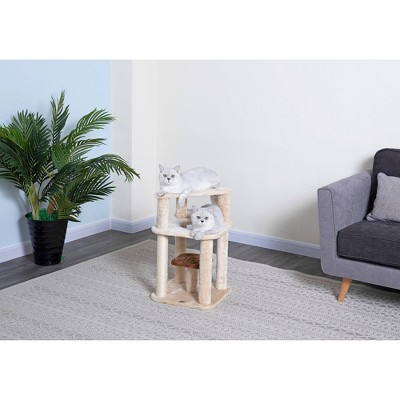 """Go Pet Club Kitten Cat Tree with Scratching Post - 25"""""""
