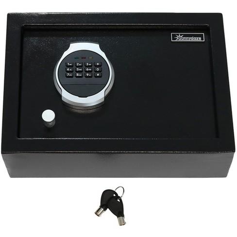 Sunnydaze Decor 0.28 Cu. Ft. Digital Security Safe Lock Box with Bolt-Down Hardware - Black - image 1 of 4