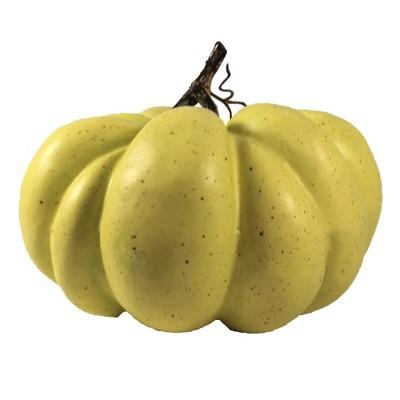 "Home Decor 8.75"" Pumpkin Yellowish Green Fall Thanksgiving Decor  -  Decorative Figurines"