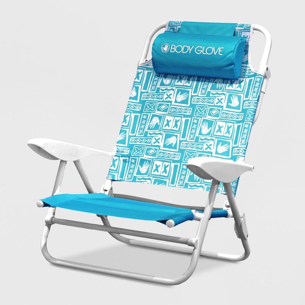 5 Position Tiki Beach Chair Blue - Body Glove, Blue Tiki