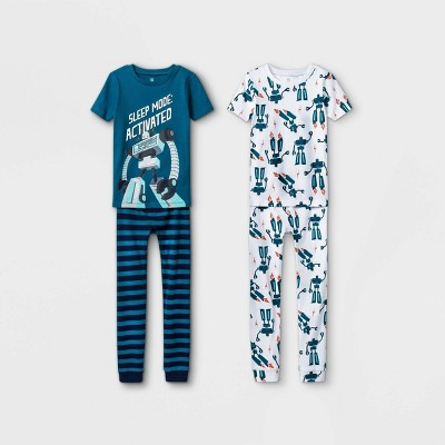 Boys' 4pc Robot Pajama Set - Just One You® made by carter's Green