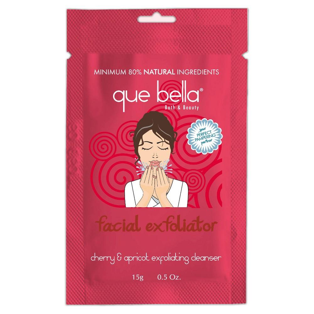 Que Bella Facial Exfoliator Cleanser - Cherry & Apricot - .5oz, Pink