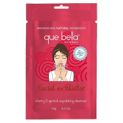 Que Bella® Facial Exfoliator Cleanser - Cherry & Apricot - .5oz - image 1 of 3