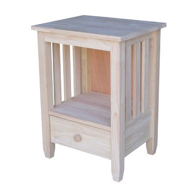 Mission Tall End Table with Drawer - International Concepts