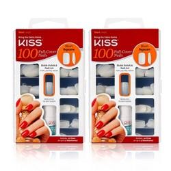 Kiss Full Cover Nails - Short Square