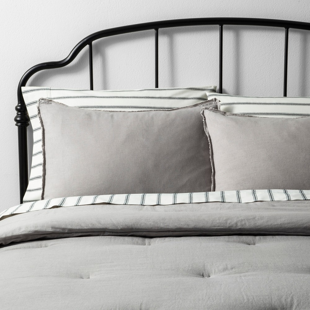 King Comforter Set Solid Jet Gray - Hearth & Hand with Magnolia