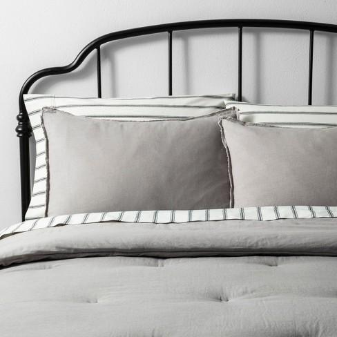 Solid Linen Blend Comforter & Sham Set - Hearth & Hand™ with Magnolia - image 1 of 4