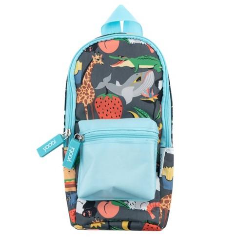 Mini Backpack Pencil Case - Animals - Blue - Yoobi™ - image 1 of 4