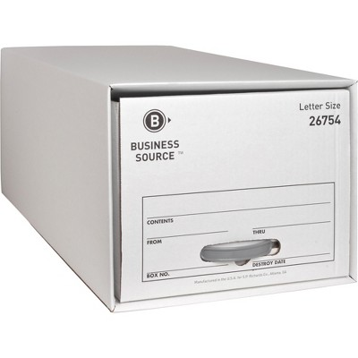 """Business Source Storage Drawer Letter 12-1/2""""x23-1/2""""x10-1/4"""" 6/CT WE 26754"""