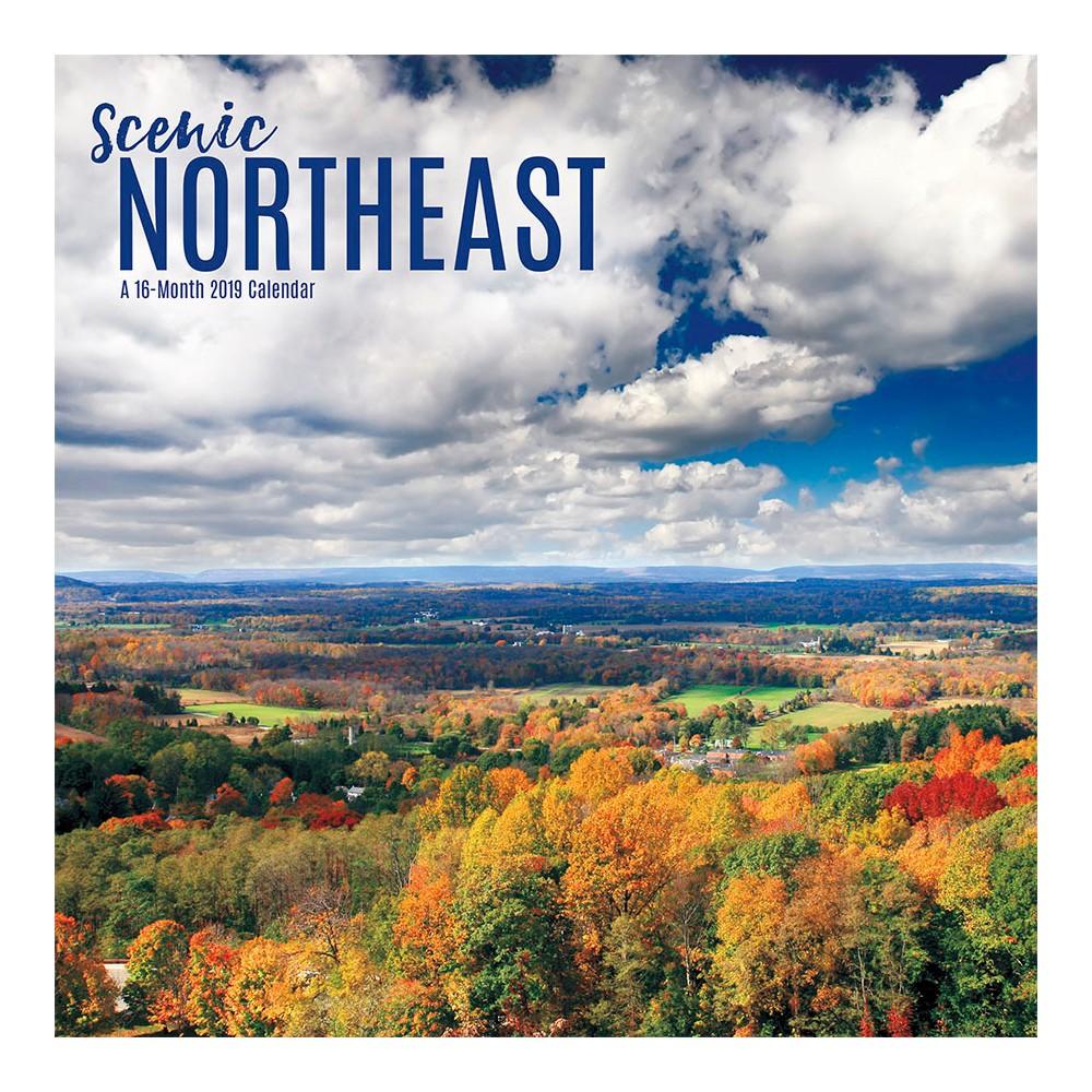 2019 Wall Calendar Northeast Scenic - Trends International, Multi-Colored
