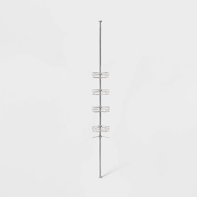 Steel L Shaped Tension Pole Caddy Chrome - Made By Design™